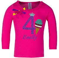 4th Birthday Outfit Ice Cream Cone Shirt