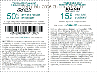 Joann coupons december