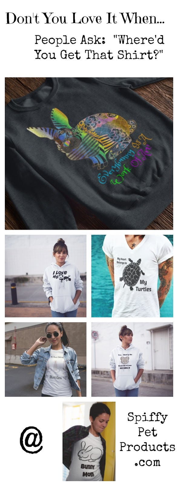 Spiffy Pet T Shirts: spifftastic new designs for small animal lovers everywhere