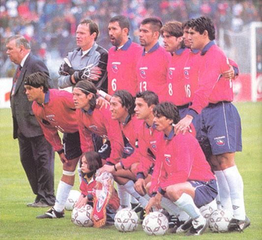 Formación de Chile ante Francia, amistoso disputado el 1 de septiembre de 2001
