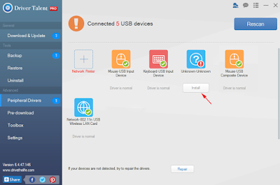 USB Driver Talent Free Download and Install for Phones and Tablets