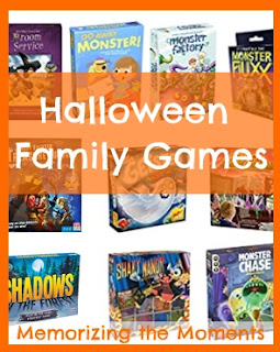 Board game ideas with a Halloween theme to play together as a family or part of gameschooling. Including Halloween games for a variety of ages.
