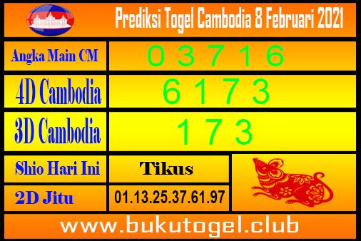 Prediksi Cambodia 8 Februari 2021