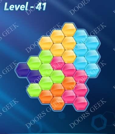 Block! Hexa Puzzle [6 Mania] Level 41 Solution, Cheats, Walkthrough for android, iphone, ipad, ipod