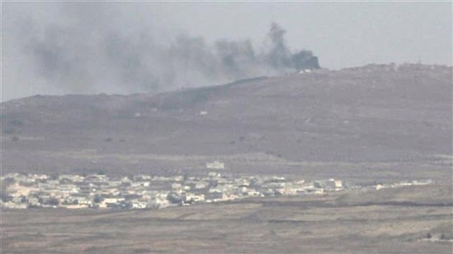 Israel hits Syrian government position in Golan Heights