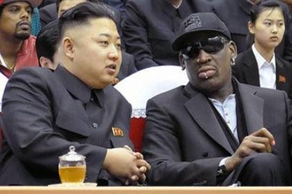 Rodman, con Kim Jong-un, en 2013. FOTO: Especial
