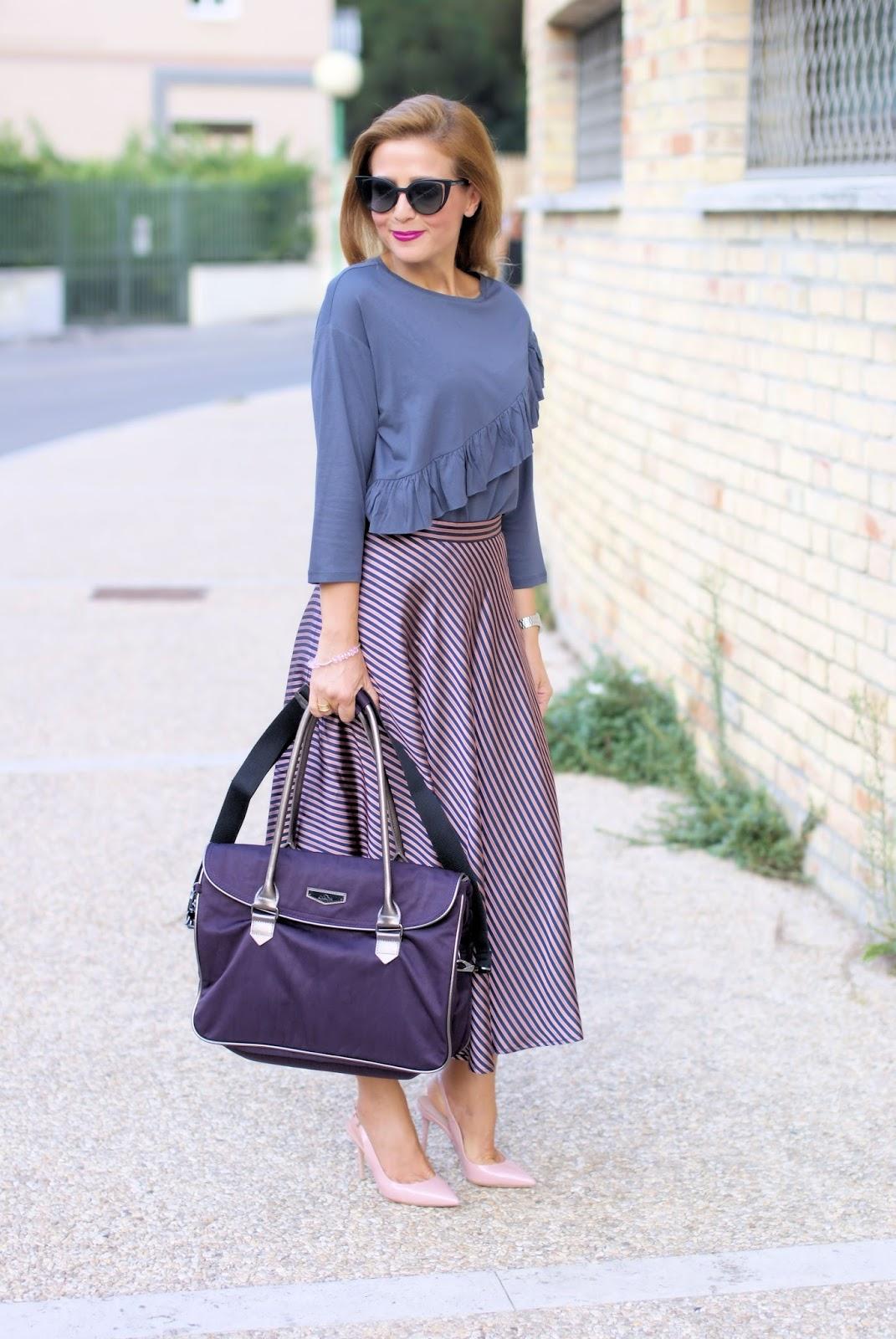 Superwork Kipling bag on Fashion and Cookies fashion blog, fashion blogger style