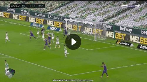 أهداف وملخص مباراة برشلونة وريال بيتيس اليوم 3 / 2 بالدوري الإسباني