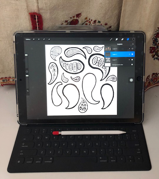getting stitched on the farm my new ipad procreate skillshare