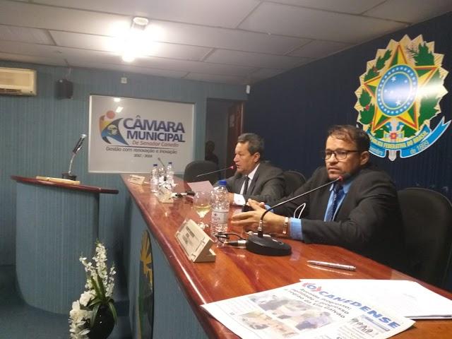 Senador Canedo: Não é possível Presidente!