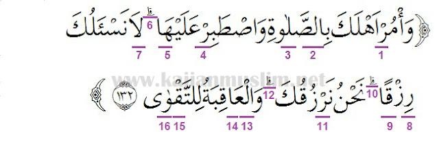 Materi Hukum Tajwid Surat Thaha Ayat 132 Dalam Al-Quran