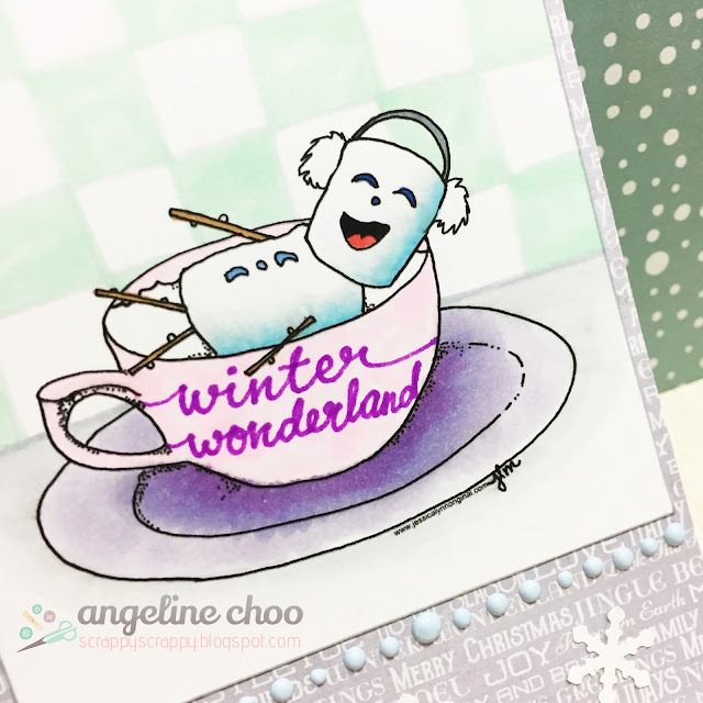 ScrappyScrappy: Winter Coffee Lovers Blog Hop with JLO Stamps #scrappyscrappy #jlostamps #stamp #coffeeloversbloghop #winter2016clh #card #cardmaking #papercraft #copic #kaisercraft #vivadecor #snowman #christmas #winter #holiday