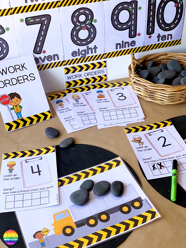 TRANSPORT THEMED NUMBER PACK - Perfect for preschool and kindergarten aged children, these transport themed number printables invite purposeful play following children's interests | you clever monkey