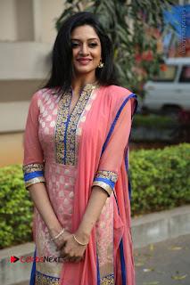 Actress Vimala Raman Stills in Beautiful Pink Salwar Kameez at (ONV) Om Namo Venkatesaya Press Meet  0080.JPG