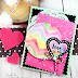 Rainbow Stenciled Love Card