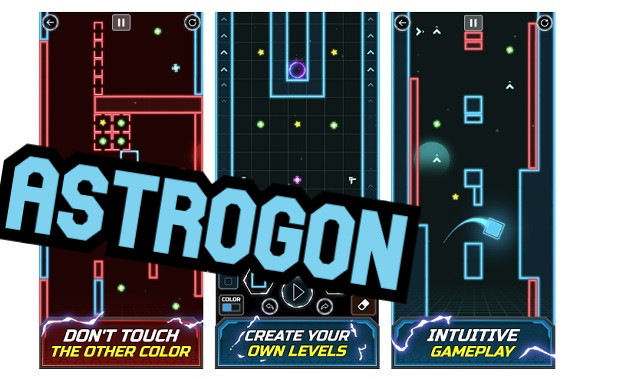 astrogon space wynthwave platform game android ios