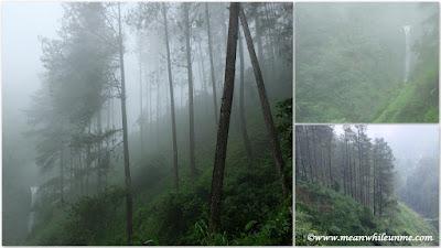 kabut tebal dan hujan deras curug muncar bikin lensa kamera berjamur
