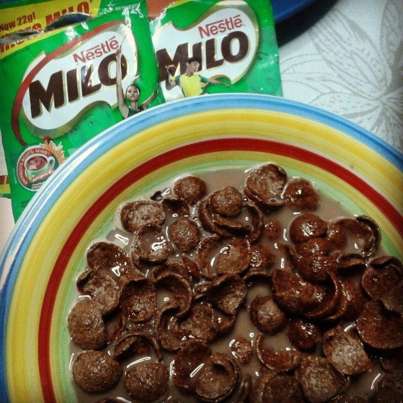 Going choco loco over nestle koko krunch for breakfast mommy we have our favorite breakfast cereals with milo ccuart Images