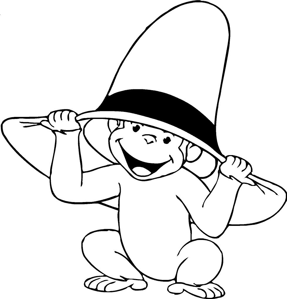 The Curious Gee Monkey Coloring Pages