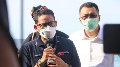 Didampingi Gubernur NTB, Menparekraf RI Kunjungi Gili Terawangan