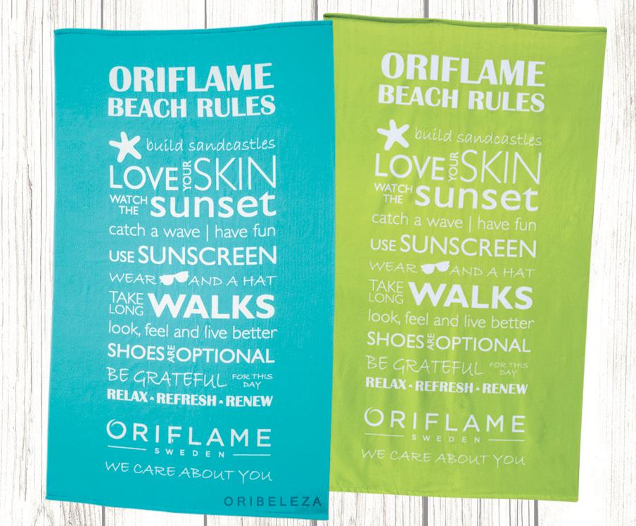 Toalha de Praia Oriflame Beach Rules