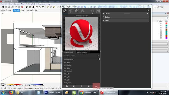 Cara meringankan kerja sketchup - Purge Unused Material Vray Sketchup