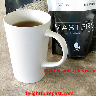 Masters by Adagio Teas Review and Giveaway - Shortbread Petticoat Tails Recipe / www.delightfulrepast.com