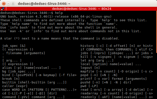Linux Shell Commands