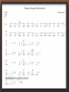 not angka lagu siapa dapat berbaris lagu anak anak