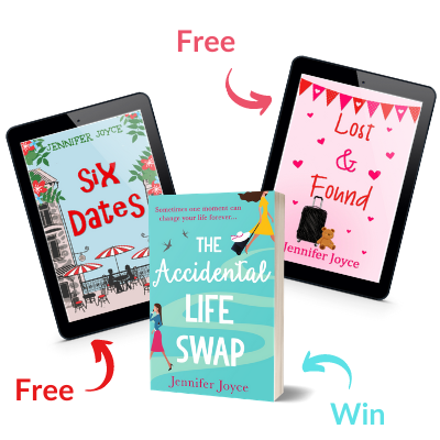 Jennifer Joyce's Newsletter: Free ebook (Six Dates), Short Story (Lost & Found) and giveaway (The Accidental Life Swap)