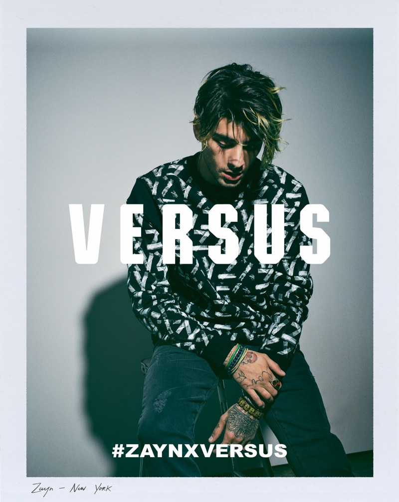 Zayn Malik stars in Versus Versace collaboration campaign