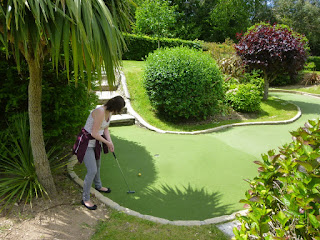 Crazy Golf in Trenance Gardens, Newquay, Cornwall