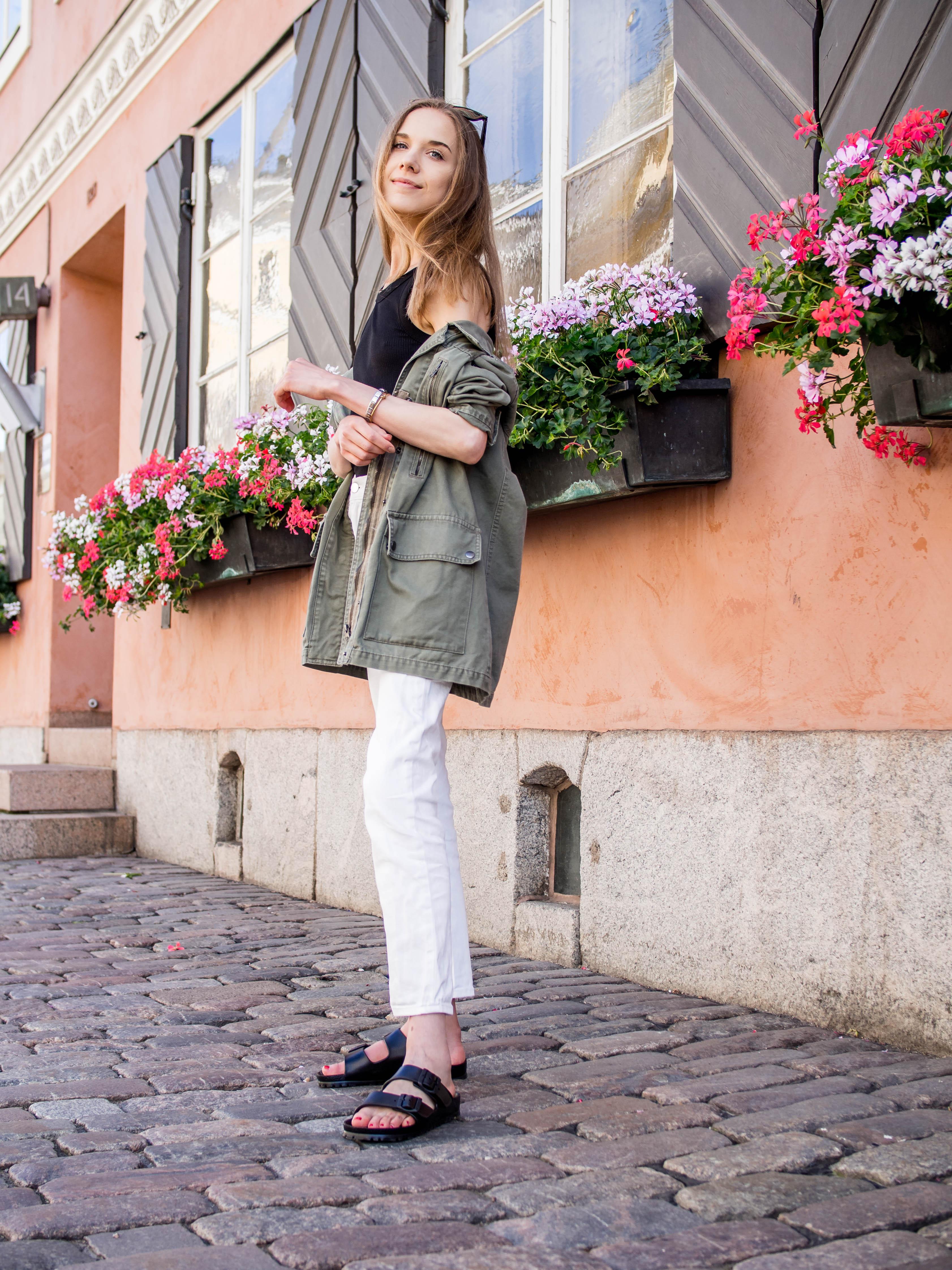 Summer outfit with cargo jacket - Kesäasu cargo-takin kanssa