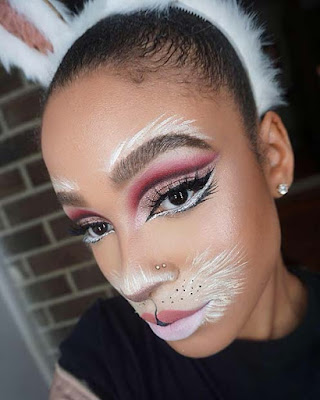 Bunny Makeup For Halloween with Glam Eyes