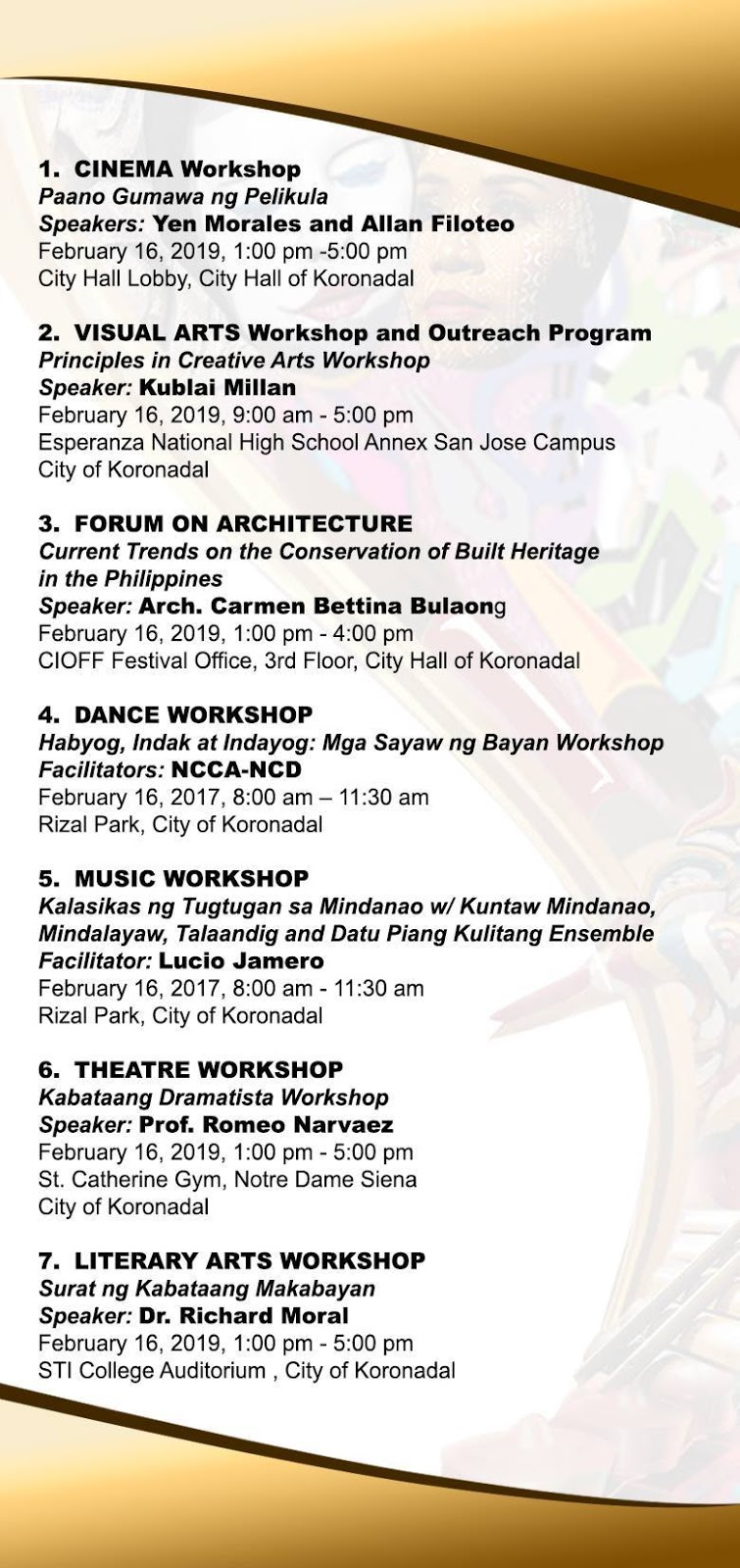 Art, Culture and Peace: Koronadal City's Arts Month