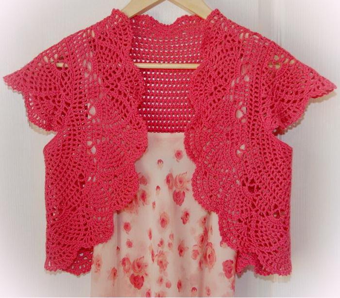 Crochet Bolero, front