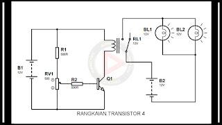 Transistor dengan switch relay