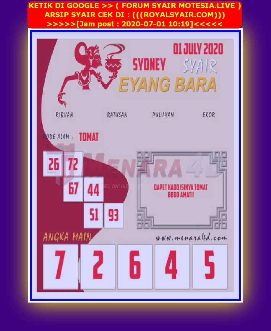 Kode syair Sydney Rabu 1 Juli 2020 195