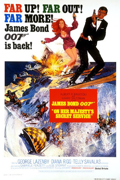Poster Of James Bond On Her Majestys Secret Service 1969 720p English BRRip Full Movie