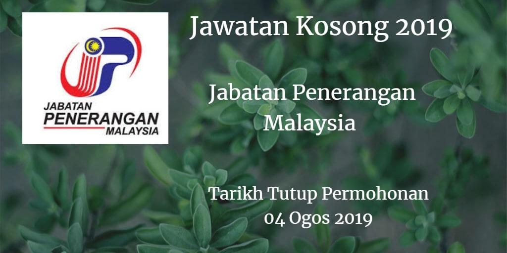 Jawatan Kosong Jabatan Penerangan Malaysia 04 Ogos 2019