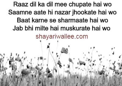 2 line romantic shayari in hindi font