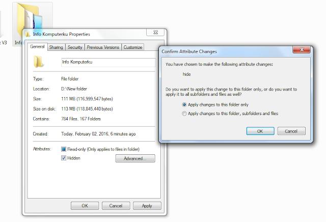 Cara Menyembunyikan File Rahasia di Komputer
