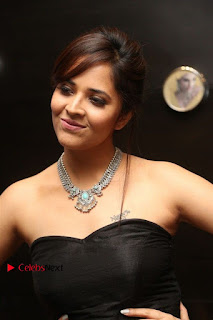 Telugu Anchor Actress Anasuya Bharadwa Stills in Strap Less Black Long Dress at Winner Pre Release Function  0001.jpg