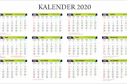 template coreldraw kalender tahun 2020 lengkap libur nasional jawa dan islam editable