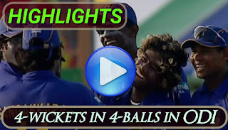Lasith Malinga Hat-trick | 4-wickets in 4-balls in ODI Highlights