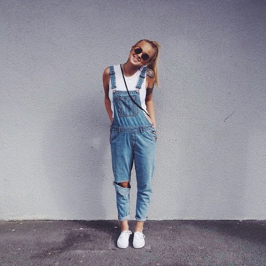 Do it with dungarees