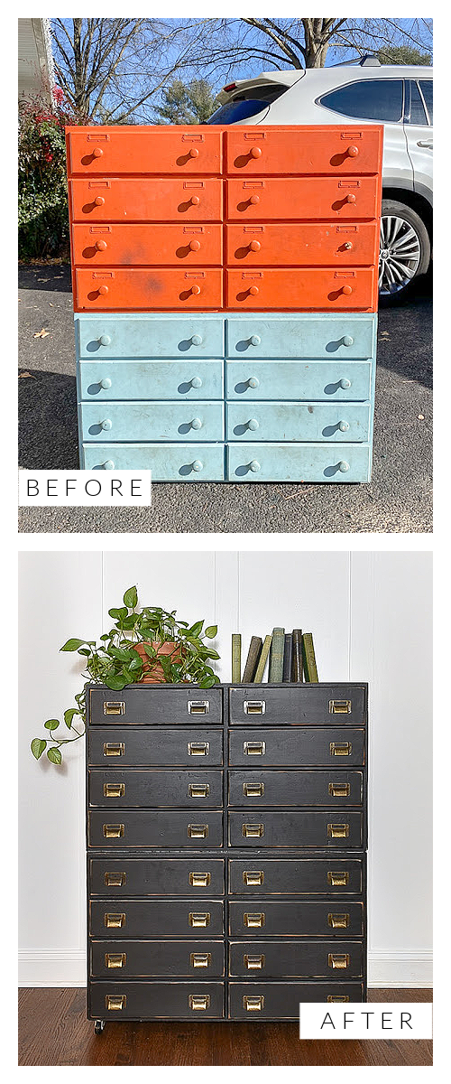 Before and after industrial storage cabinet