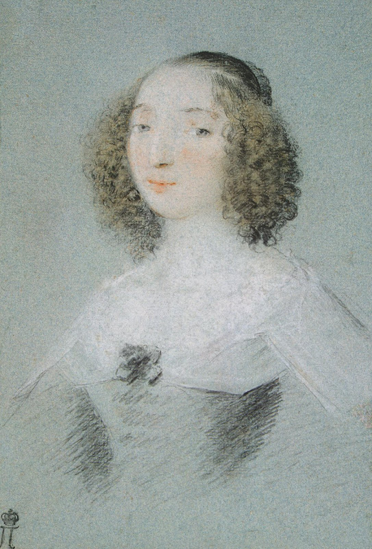 Portrait of Henriette-Marie de Buade-Frontenac by Claude Mellan - Portrait Drawings from Hermitage Museum