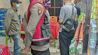 Polsek Medan Area Bersama Camat dan Satpol PP Lakukan Sosialisasi PPKM Darurat di Wilkumnya