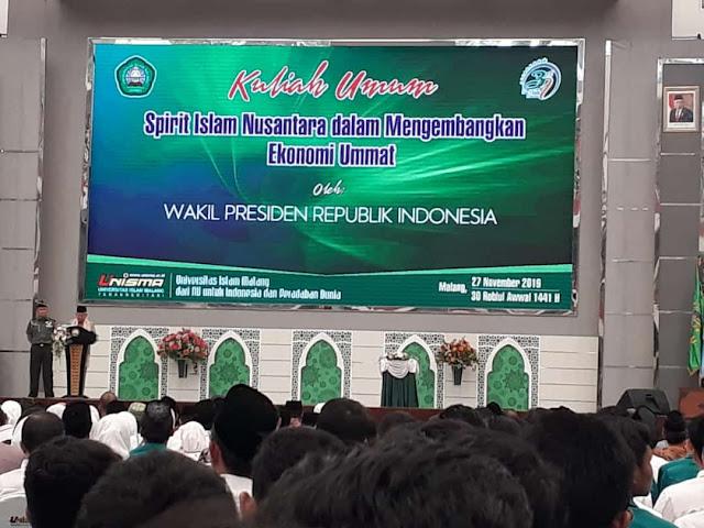 Wakil Presiden KH Ma'Ruf Amin Datangi UNISMA
